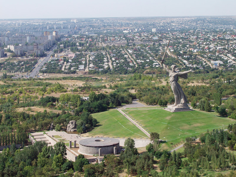 The battle of Stalingrad memorial site.